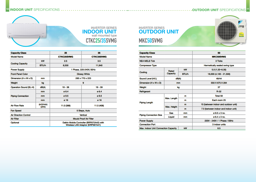 Daikin brochures