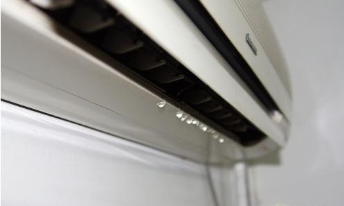 Daikin aircon leaking water because the drainage pipe is choke